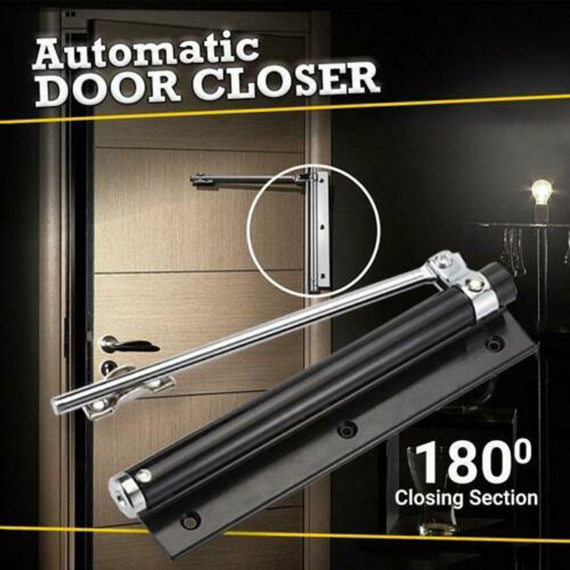 Automatic Door Self Closing Hinge Door Closer Single Spring Adjustable Surface Mounted Dropship