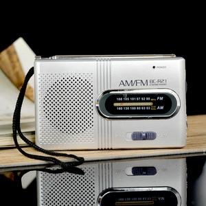 Image 2 - Mini Portable AM/FM Radio Telescopic Antenna Radio Pocket World Receiver Speaker Portable Radio Outdoor Silver Color
