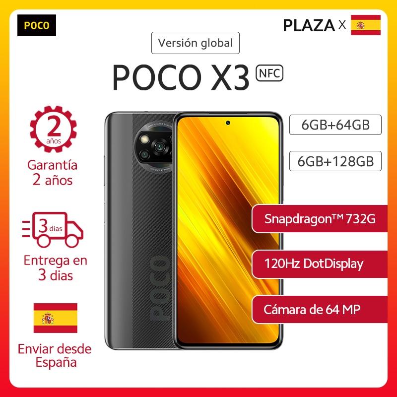 Xiaomi POCO X3 NFC Smartphone Snapdragon 732G 6.67 '' FHD Dotdisplay 64MP AI Quad Cámara 5160mAh Batería 33W NFC Teléfonos móviles  - AliExpress
