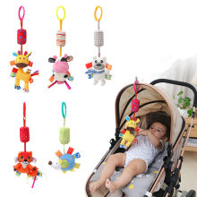 Baby Toy Stroller Accessories Hooks Bed Mobile hanger Rattles Newborn Girsl Boys Plush Toy Infant Toddle Cartoon 0-2 Years(China)