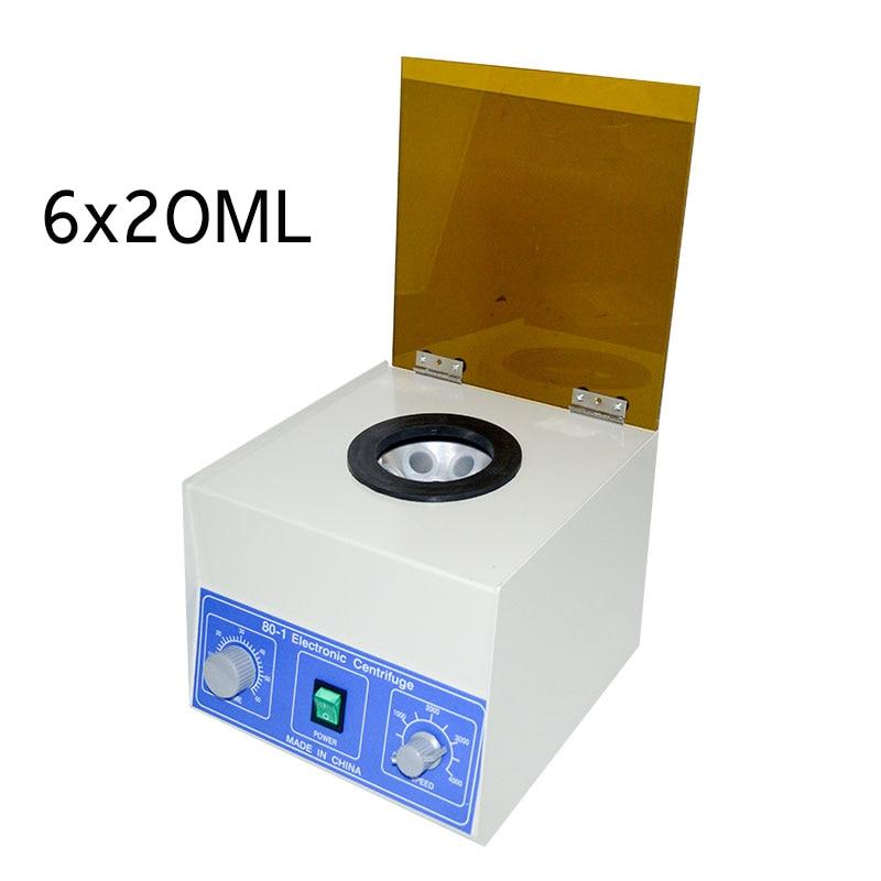 6x20ml Desktop Laboratory Centrifuge Electric Medical Lab Centrifuge 4000rpm low-speed fat beauty PRP serum separator 80-1