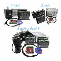 CNC Nema34 stepper motor 4.5Nm 8.5Nm 12Nm stepper motor +DMA860H stepper motor driver+350w60v power supply +MACH3 software