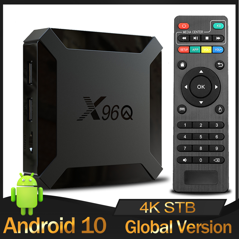 Original X96Qทีวีกล่องAndroid 10.0 Allwinner H313 Quad Core 2GB 16GB Smart Media Player 2.4G Wifi 4Kชุดกล่องด้านบนPK X96mini