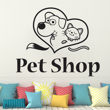 Pet Grooming Salon Wall sticker Four Paw Store Lovers Dog Cat Veterinary clinic Animals Best friend wall decal decoration HQ089 dog 56 cute paw heart wall sticker creative cartoon cat dog lover vinyl wall decal home