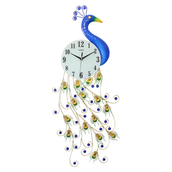 Peacock clock wall clock living room modern minimalist creative clock mute quartz clock fashion atmosphere wall charts