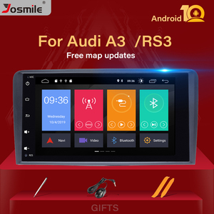 IPS DSP 2din Android 10 Car Multimedia Player head unit For Audi A3 8P S3 2003-2012 RS3 Sportback Radio NavigationGPS DVD stereo(China)