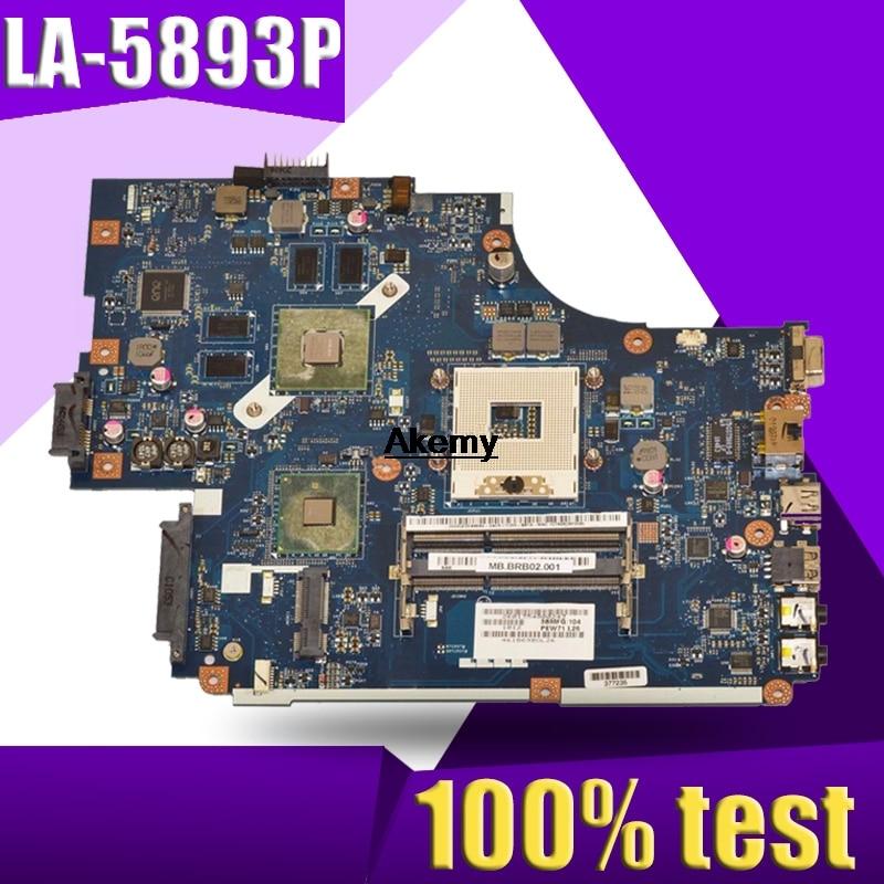 LA-5893P Motherboard For Acer 5740 5741 5742 5741G 5742GLA-5891P LA-5894P LA-5893P Motherboard Test Work 100% Original