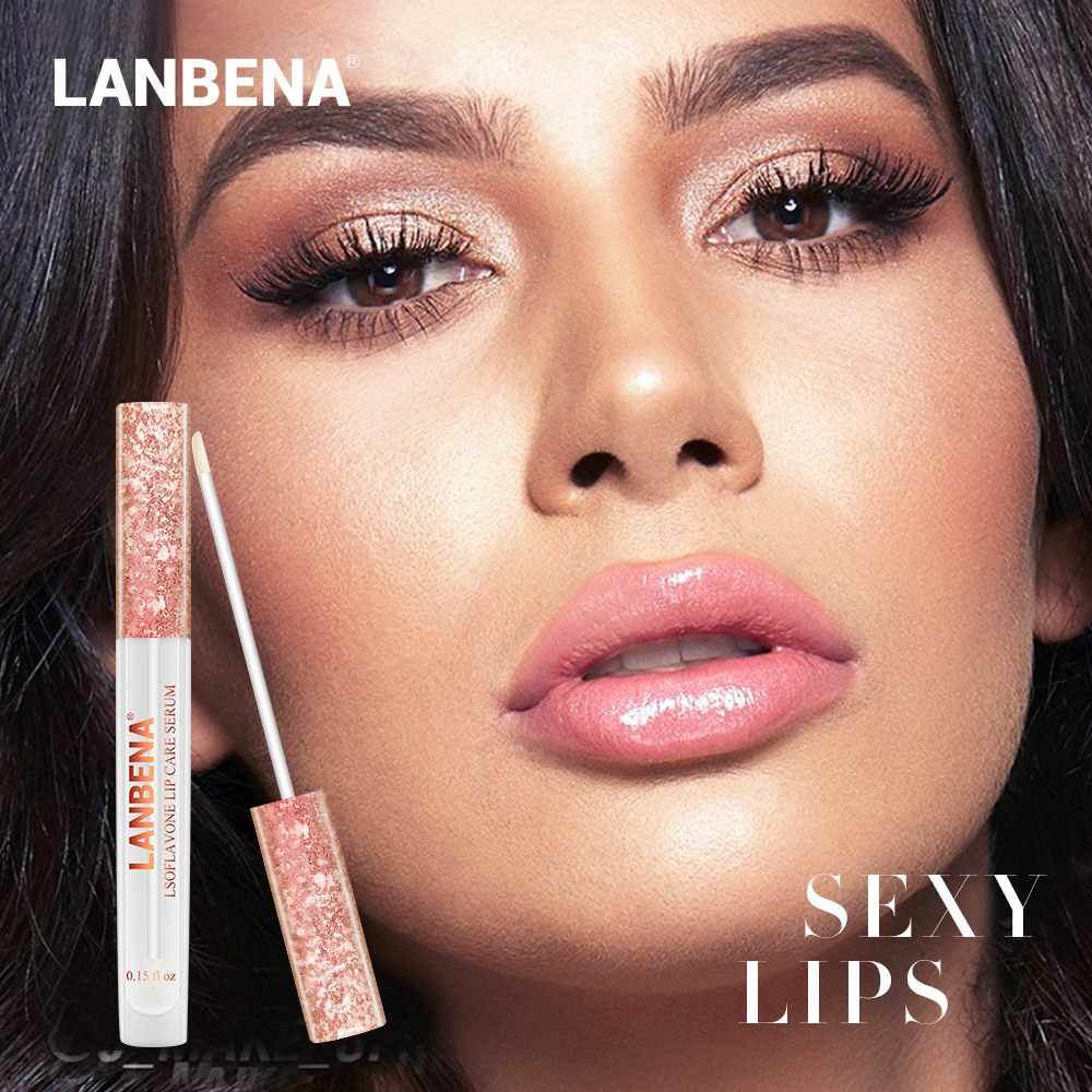 LANBENA Lip Pump Serum Skin Care Mask Lipstick Moisturizing Nourishing Balm Repairing Whitening Makeup Beauty Sexy Essence Stick