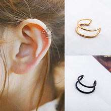 1 pc Stainless Steel Earing Cuff Clip On Earrings Ear Cuffs Non Pierced Earring For Women Men Ear Clips Jewelry Accessories(China)