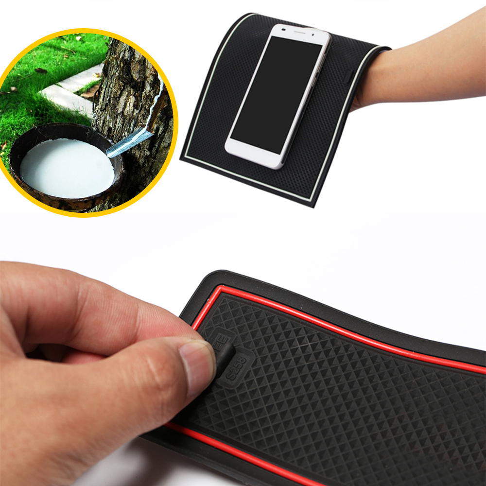 Image 4 - Anti Slip Rubber Cup Cushion Door Groove Mat for VW POLO MK6 Volkswagen 2018 2019 2020 Accessories Car Stickers mat for phone-in Car Stickers from Automobiles & Motorcycles