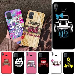 KPUSAGRT jeep girl Soft Rubber Phone Cover For Samsung Galaxy A21S A01 A11 A31 A81 A10 A20E A30 A40 A50 A70 A80 A71 A51