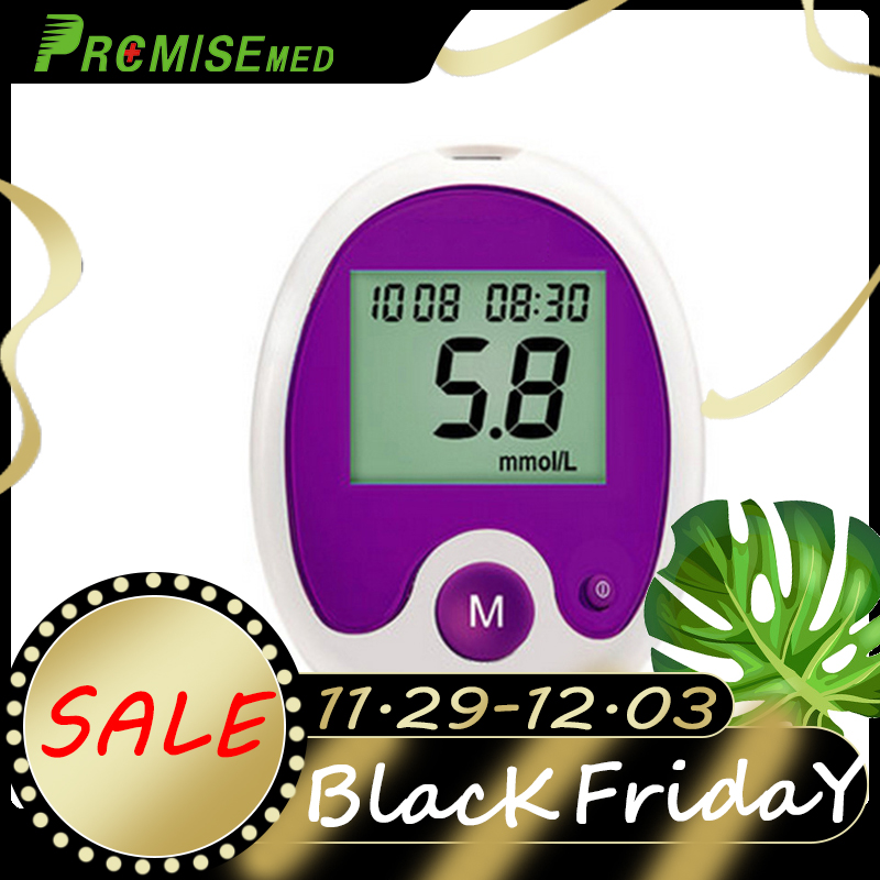 Blood glucose meter and test strip lancet medical blood diabetes tester