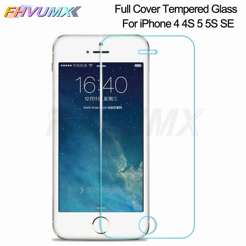 Tempered Protection Glass On The For IPhone 5 5S SE 5C Screen Protector Full Cover For Apple Iphone SE 5S 4 4S Safety Glass Film