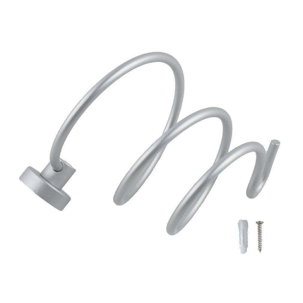 Wall Hair Dryer Rack Space Aluminum Bathroom Wall Holder Shelf Storage Rack Home Storage Organizer Hairdryer Holder