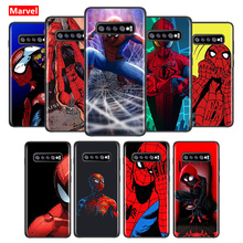 Marvel Spider Man Avengers Super bohater do Samsung Galaxy S21 S20 FE Ultra S10 Lite S9 S8 Plus S7 S6 miękka TPU silikonowa obudowa telefonu