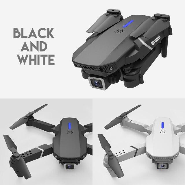 LANSENXI 2020 nowy E525 WIFI Dron FPV z szerokim kątem HD 4K 1080P wysokość kamery trzymaj RC składany Quadcopter Dron prezent zabawka