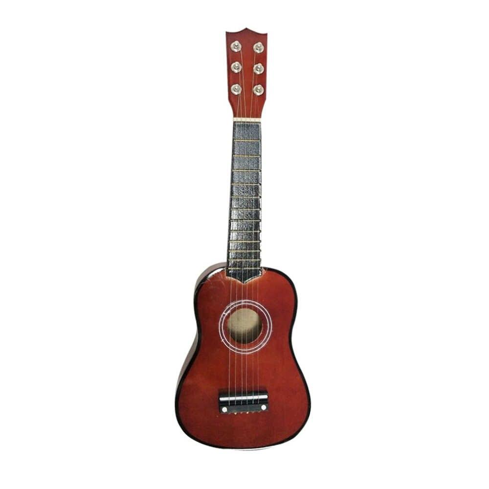"""גיטרה קטנה יוקולילי עץ 21 """"עץ כלי נגינה סופרן הוואי אקוסטית גיטרה כלי נגינה"""