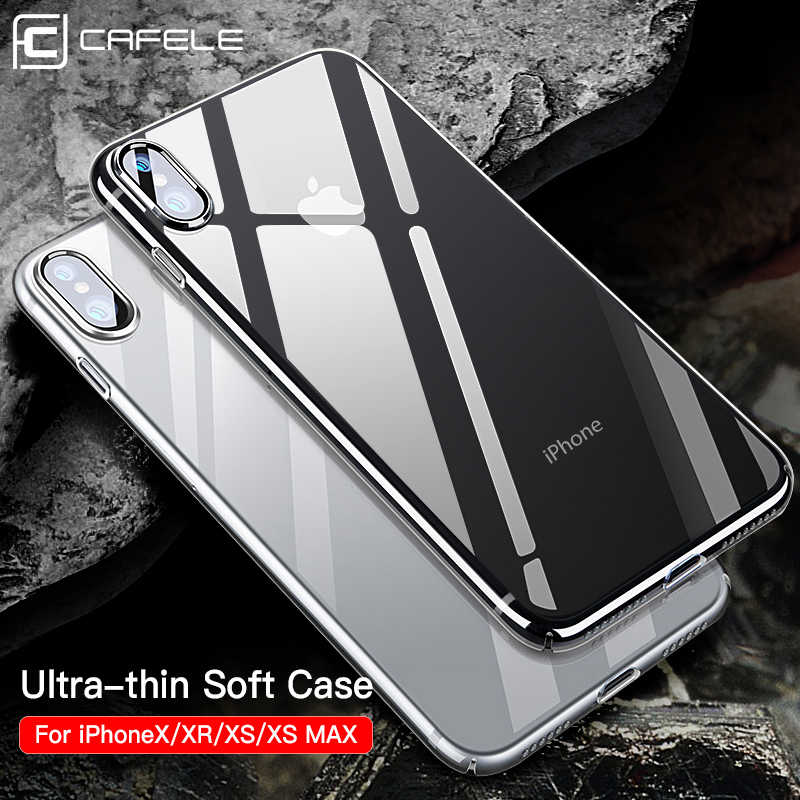 Cafele Ultra-Soft Druable Skin-Friendly TPU Phone Case for IPhone X Xs XR Xs MAX Case Crystal Clear TPU Phone Cover Case
