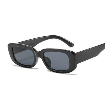 2021 Square Sunglasses Women Luxury Brand Travel Small Rectangle Sun Glasses Female Vintage Retro Oculos Lunette De Soleil Femme - Black Gray
