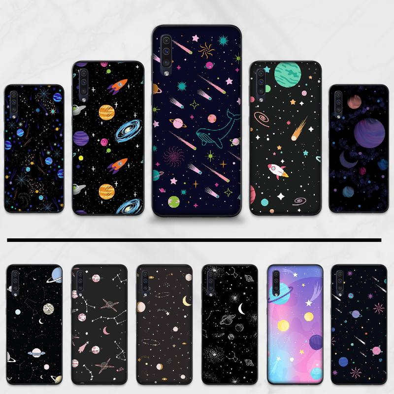 Cute Planet Print cool star cute Phone Case cover Shell For Samsung Galaxy A 3 6 7 8 <font><b>10</b></font> 20 30 40 <font><b>50</b></font> 70 71 10S 20S 30S 50S PLUS image