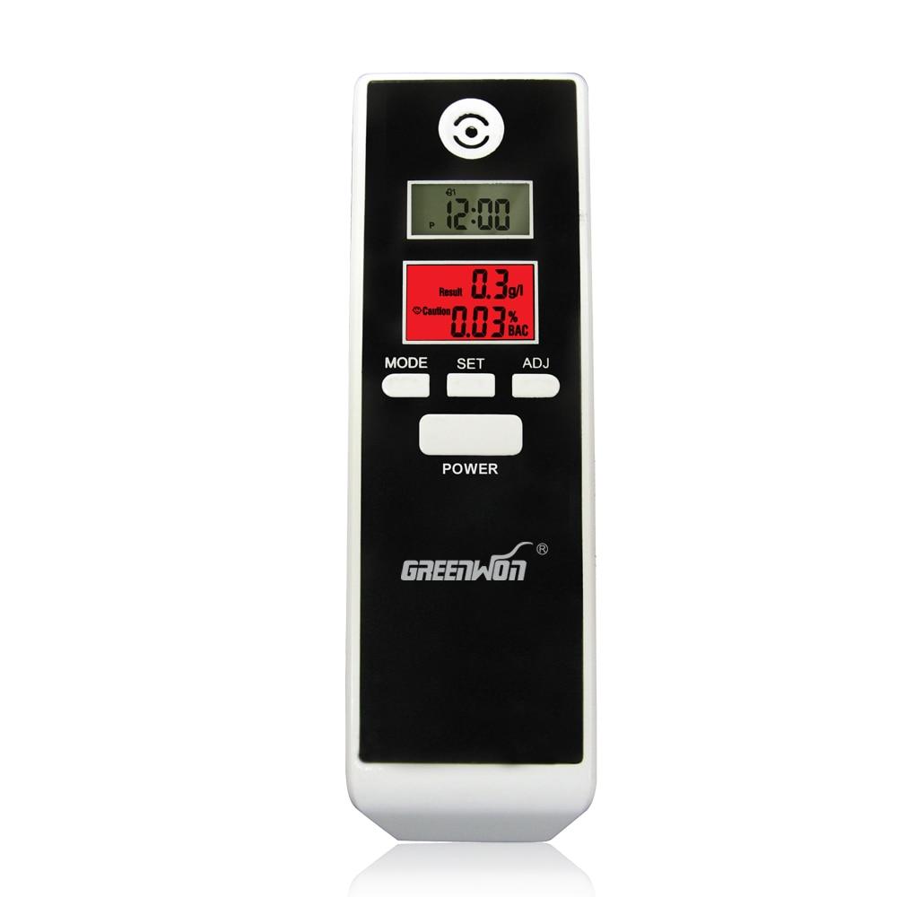 Портативный цифровой алкотестер/Тестер дыхания с двойным экраном