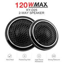2pcs 120W Car Speaker Black Mini Universal High Efficiency D