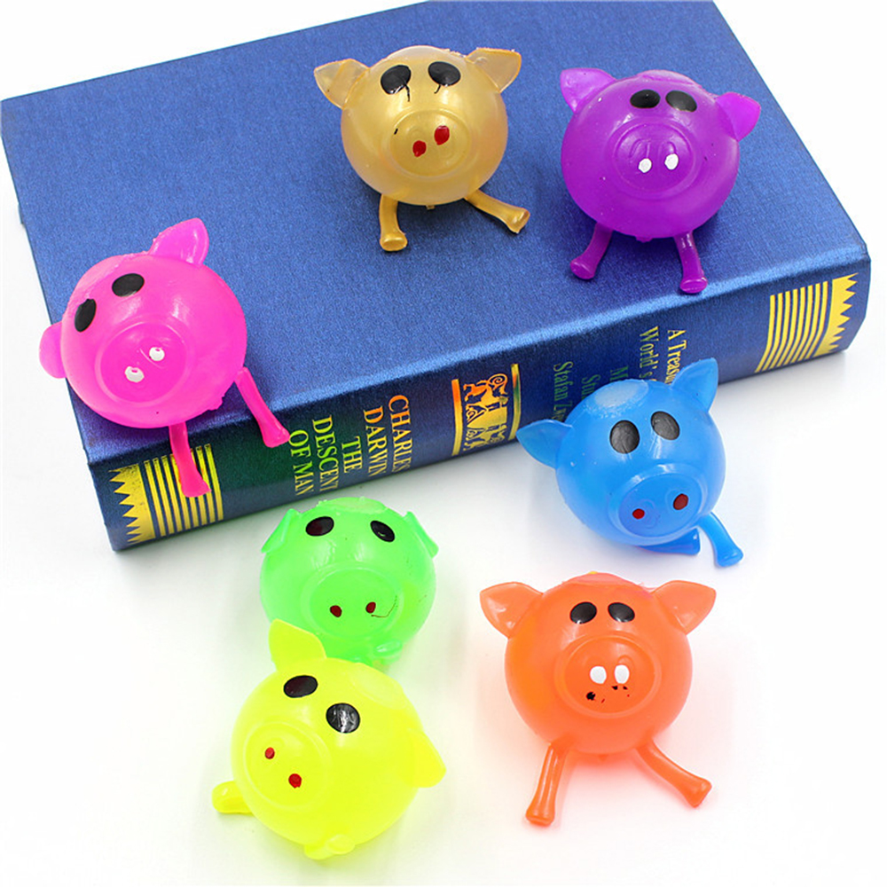 2019 New 1Pcs Anti-stress Decompression Splat Ball Vent Toy Smash Various Jello Pig Toys Random Color Kids/adult Gifts