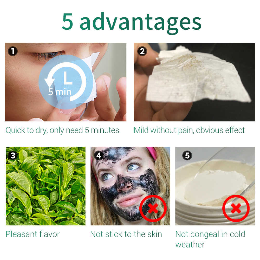 LANBENA פנים מסכת חטט Remover סרום סגנון חדש מהיר ייבוש ניחוח ללא מקל אצבע פנים עמוק ניקוי לכווץ נקבוביות