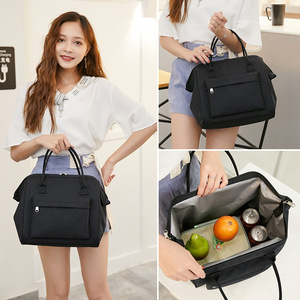 Image 3 - Large Portable Insulated Canvas lunch Bag Thermal Food Picnic Lunch Bags Women kids Men Cooler Lunch Box Bag Tote