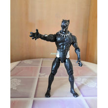 "6 ""The Avengers Capitão América Superhero Black Panther T'Challa Com DIODO EMISSOR de Luz Collectible Toy Modelo de Ação PVC OPP 16CM Z2681(China)"