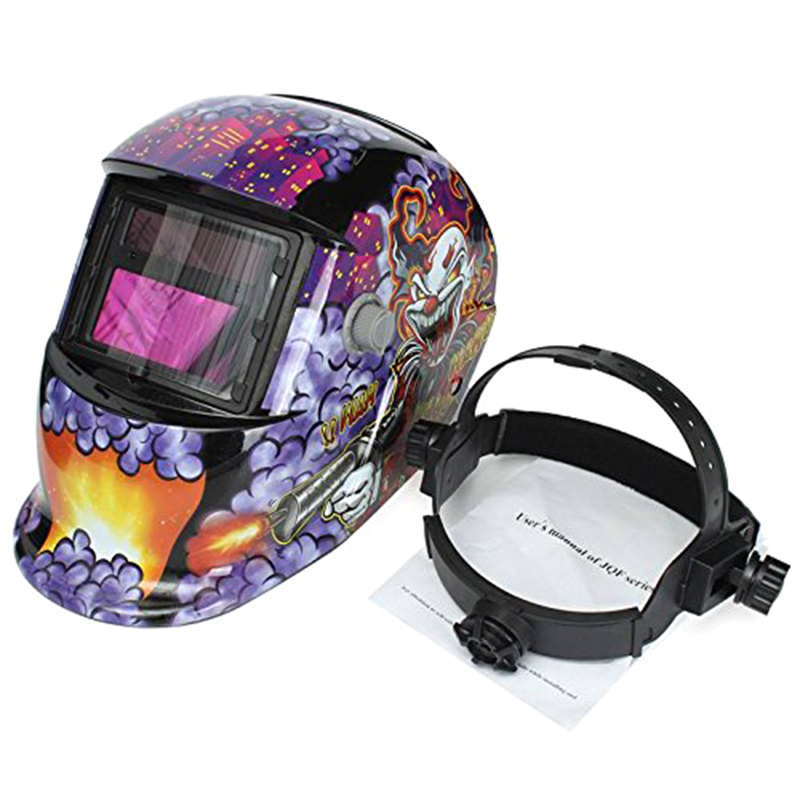 Tools : Welding Mask Hood Welding Helmet Solar Automatic Solar Power for Recharge  Face Protection  Clown   Pistol