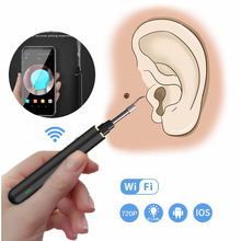 Wireless Earwax Remover WIFI Otoscope Visual Ear Swab Wireless Ear Sticks Ear Care Flash Lightled Ear Cleaner for Earwax Remova