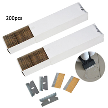 EHDIS 200pcs Carbon Steel Spare Blade For Razor Scraper Glass Sticker Glue Remover Oven Ceramic Cleaning Squeegee Car Tint Tools