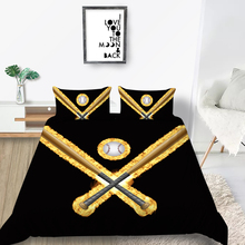Burning Baseball Bedding Set King Size Fashionable