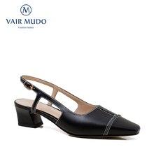 VAIR MUDO Women Pumps Genuine Leather Lady Hit color Thin Heels Shoes
