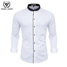 VISADA JUANA 2019 Men's Shirts Fashion Formal Men's Casual Shirts Dress Shirts Men Clothes Y149(China)