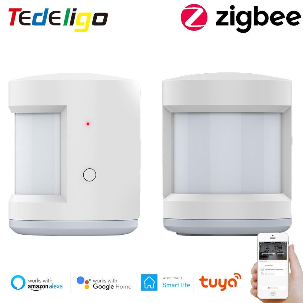 Смарт-Датчик жизни Tuya Zigbee, беспроводной детектор движения, работает со шлюзом Google Home Alexa Echo