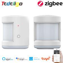 Tuya capteur de vie intelligente Zigbee alarme PIR détecteur de mouvement humain contrôle sans fil travail avec passerelle Google Home Alexa Echo