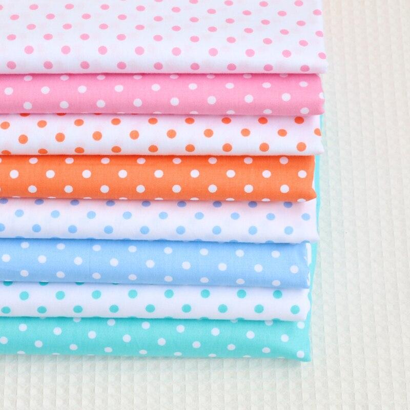 Серия в горошек, 100% хлопчатобумажная ткань с принтом для квилтинга, детская ткань в стиле пэчворк, ткань для шитья «сделай сам», материал на ...
