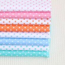 Polka dot série 100% algodão impresso tecido para quilting crianças retalhos pano diy costura quartos de gordura material para o bebê & criança