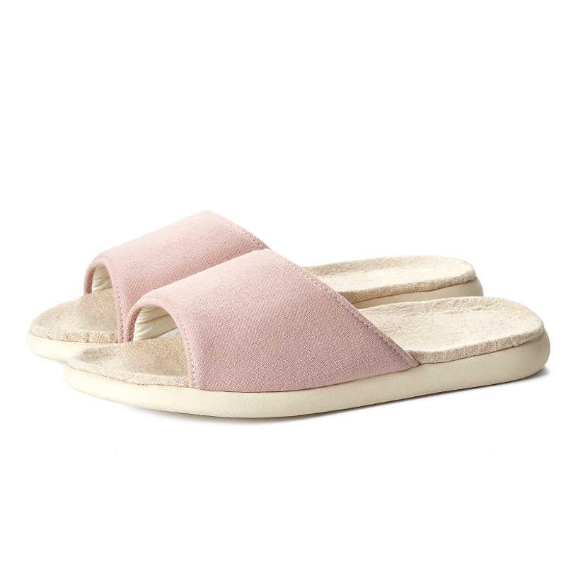 POSEE Vrouwen Katoen Linnen Slippers Zachte zool Thuis Vloer antislip Slippers Dames mode Indoor slippers Sandalen Vrouwelijke 09026