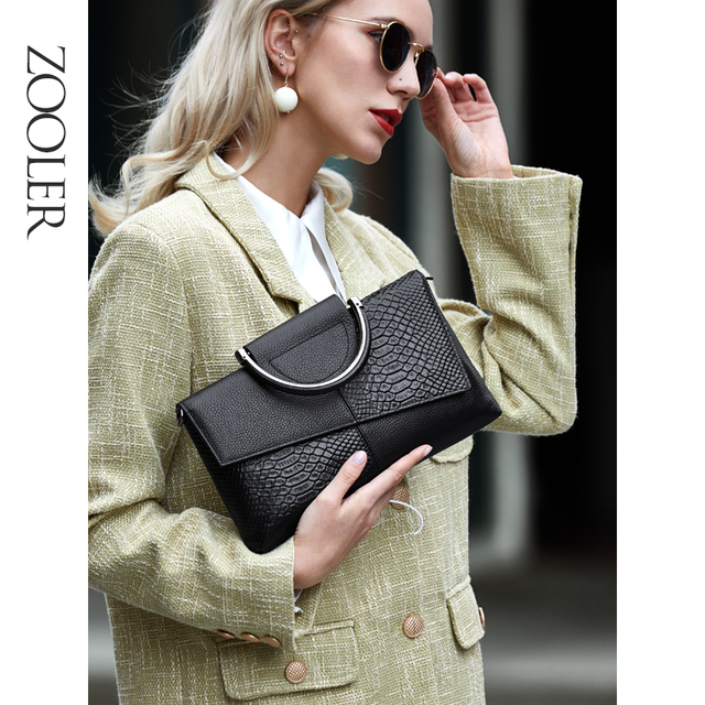 ZOOLER Luxury brand Genuine Leather Woman Crossbody bags mini Cow leather purse Hand bags for Female 2020 Designer Bag sac femme