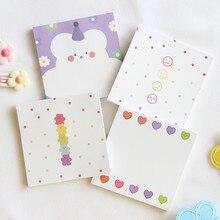 50 arkuszy INS miłość niedźwiedź notatnik prosty kwiat świeże notatki przenośny kieszonkowy słowo książka papiernicze Kawaii notatnik papiernicze