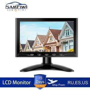 Car Headrest Monitors 10 inch Screen TFT LCD Display HD Digital Color Inch AV HDMI VGADVD Player For Rear View Reverse Camera(China)
