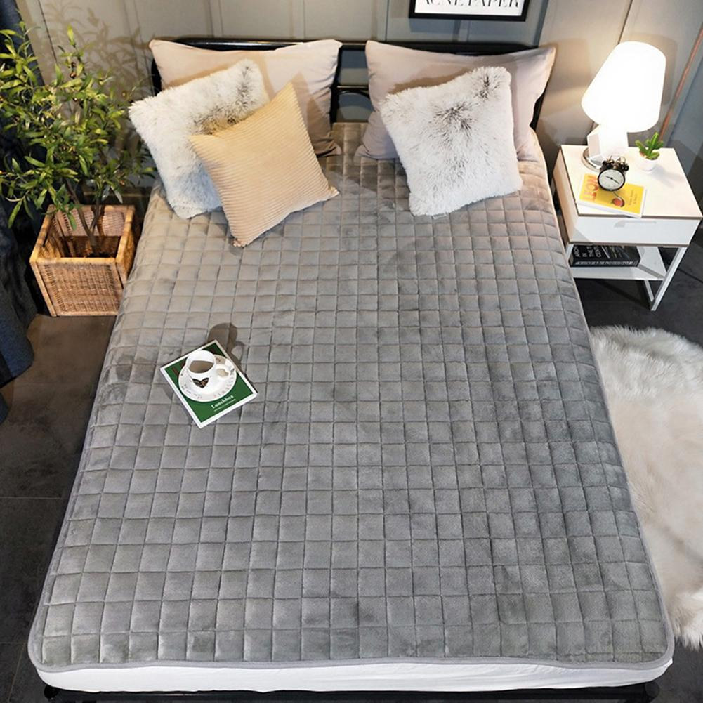 Flannel Mattress Warm Non-slip Mattress Single And Double Soft Cushions Pad For Student Dormitory
