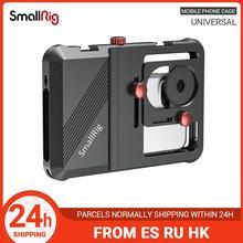 SmallRig מקצועי אוניברסלי נייד טלפון כלוב Vlogging כלוב עבור Smartphone עם 63.5mm כדי 87.5mm טווח 2494