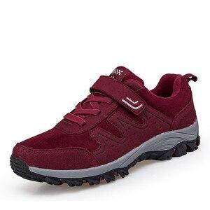 Image 3 - PINSEN 2020 yeni sonbahar kadın ayakkabı yüksek kaliteli açık yürüyüş rahat ayakkabılar kadın rahat dantel up daireler anne ayakkabısı