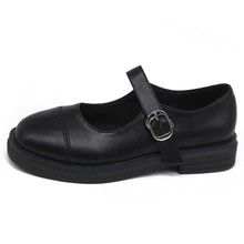 Women's Shoes Leather Shoes British Retro 2020 Spring New Th