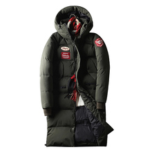 Men #8217 s X-Long Down Jacket Windproof Thick Warm Men #8217 s Winter Down Jacket White Duck Down Jacket Coat Men Overcoat cheap Asstseries Thick (Winter) Slim Casual zipper Broadcloth Acetate Polyester Full Print Hat Detachable PATTERN Pockets 3D Print