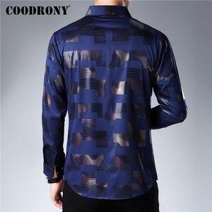 Image 3 - COODRONY marka koszula męska bawełniana koszula z długim rękawem mężczyźni jesień sukienka męskie koszule na co dzień Streetwear moda Camisa Masculina 96068